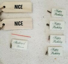Lot of 5 Pieces - Simply Said Ceramic Tile Gift Tags - Happy Birthday Thinking