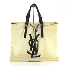 Authentic YSL Yves Saint Laurent XL Tote Shoulder Bag Travel Cabin Made in Italy