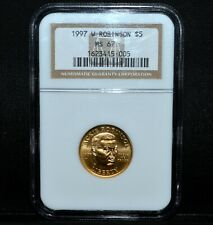 1997-W $5 JACKIE ROBINSON GOLD COMMEM ✪ NGC MS-67 ✪ BU UNCIRCULATED UNC◢TRUSTED◣