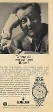 1963 ROLEX PRINT AD features: Walter Slezak Chronometer Men's Watch great doc ad