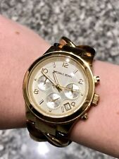 Michael Kors MK 4222 Gold Tone Chain Tortoise Watch