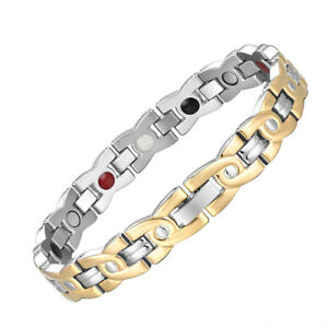 Ladies magnetic pain relief bracelet - Arthritis - Negative ions therapy