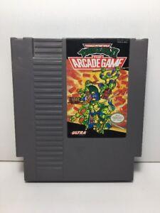 TEENAGE MUTANT NINJA TURTLES II 2 TMNT ARCADE NES Nintendo Original Game TESTED!