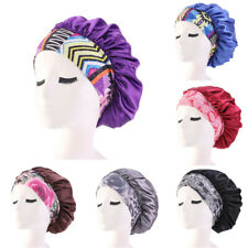 Women Waterproof Bath Shower Hat Reusable Satin Sleep Hair Head Cover Salon Cap
