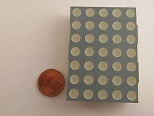 """50mm (2,0"""") 5x7 dot matrix display kingbright tc20-11gwa, verde, Gem. cátodo"""