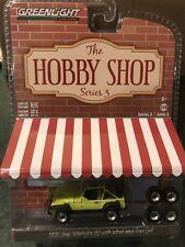 Greenlight Hobby Shop Series 3  1991 Jeep Wrangler YJ w/ mud & extra Tires