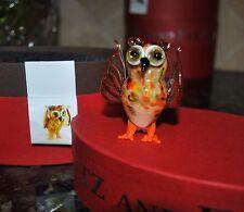 New Fitz & Floyd Glass Menagerie William Figurine Gift Box Yellow Owl