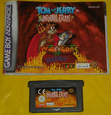 TOM & JERRY IN INFURNAL ESCAPE Game Boy Advance Gba ••••• CARTUCCIA e MANUALE