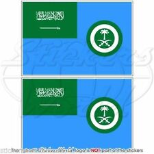 """SAUDI ARABIA AirForce Ensign Flag Vinyl Bumpers, Decals Stickers 3"""" (75mm) x2"""