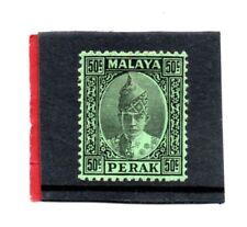 Malaya, Perak 1938-41 50c black/emerald sg 118 HH.Mint