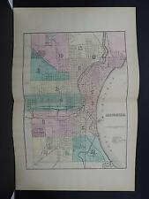 Wisconsin, 1876 County Map, City of Milwaukee M11#32