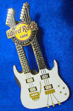 SALT LAKE CITY USA *ROCK GUITAR SERIES* WHITE DOUBLE NECK Hard Rock Cafe PIN LE