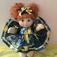Beautiful Mattel MY CHILD Doll  Red Hair Teal Eyes 1985