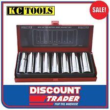 KC Tools 8 Piece 3/8' Drive Deep Metric Socket Set - A13316