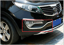 ABS Chrome Front Fog Light Eyelid Stripe Trim 2pcs For Kia Sportage 2011-2015