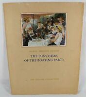 Pierre-Auguste Renoir, the Luncheon of the Boating Party The Phillips Collection