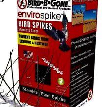 "Stainless Steel Bird Spikes 10 ft. x 5"" Rust-Resist Weather-Proof Bird Control"