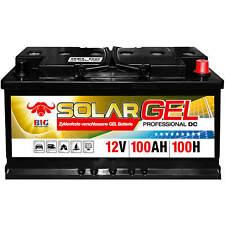 Versorgungsbatterie GEL 12V 100Ah BIG Camping Solar-Akku Wohnmobil Boot Batterie