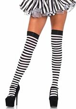 Leg Avenue Plus Size Striped Thigh Highs Costume Black White
