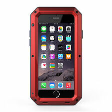Shockproof Aluminum Glass Metal Case Cover for iPhone 4s 5S 6 7 8 X & Plus