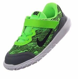 Nike Non-Tie Sneakers Electric Green/Grey/White/Black Flex Little Boys Size  7