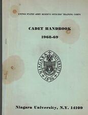 United States Army Cadet Handbook- Niagara University Ny 1968-69