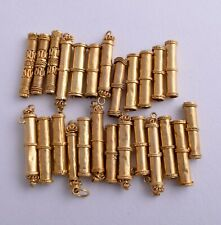 Rare 25 Vintage Egyptian ZAR silver gold plated  cylinder tube Necklace