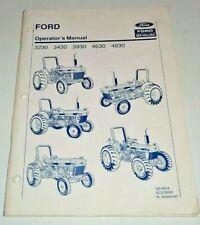 Ford 3230 3430 3930 4630 4830 Tractor Operators Owners Manual Original 890
