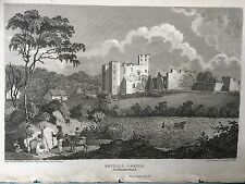 1811 Print; Bothal Castle, between Morpeth and Ashington, Northumberland