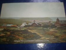 More details for old postcard on road to cregneash isle of man c1926