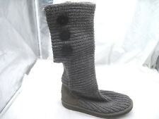 UGG Australia 7M 38 gray knit sweater boots Womens Ladies Boots Shoes 5819