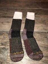 Carhartt Men's Wool Blend Cold Weather Boot Socks Sz Large 6-12 Shoe Brown NWOT