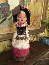 French Doll, circa 1900, Alsace Lorraine, Made by Hand