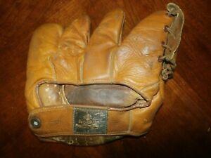 Vintage Antique Leather Baseball Glove Five Finger Mitt Nokona SB1