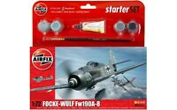 Airfix 55110 WWII German Fw190A-8 1/72 Scale Plastic Model Kit Starter Set