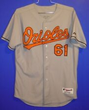 ORIOLES #61 HILL GRAY BUTTON-DOWN SIZE 48 JERSEY + FOUR FREE CAPS!!!!!