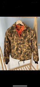 vintage camo hunting jacket (reversible)