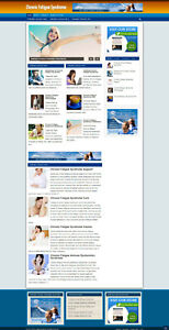 CHRONIC FATIGUE HELP AFFILIATE WEBSITE WITH NEW FREE DOMAIN + HOSTING