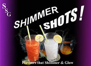 Shimmer Shots! Edible Glitter Drinks,Gin,Vodka,Procecco,Unicorn Vegan Friendly