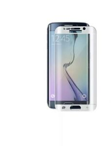 For Samsung Galaxy S6 EDGE WHITE Full Curved 4D Tempered Glass Screen Protector