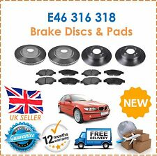 For BMW E46 3 Series 316 318 1998-2005 Front & Rear Brake Discs & Pads Set New