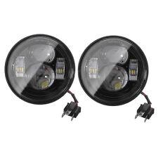 Light-Haus Fat Bob Black Dual LED Headlight Kit - Harley Fat Bob Free Shipping