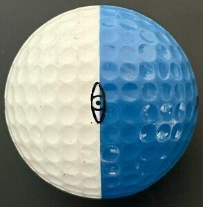 Ping Eye Karsten Golf Ball White Medium Blue 2 colored Dual Colors No Logo