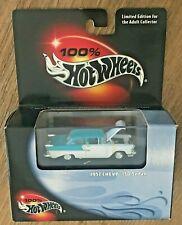 100% Hot Wheels Black Box Limited Edition 1957 Teal/White Chevy 150 Sedan