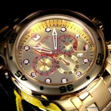 Men's Invicta Pro Diver Scuba 18kt Gold Plated Rose Tone Subdials 48mm Watch New
