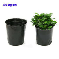 100Pcs Garden Plant Pots Plastic Flower Seedlings Nursery Bowl Home Indoor