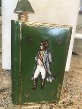 CAMUS Napoleon 1769-1969 Green LIMOGES Porcelain EMPTY Old & Rare Cognac Bottle
