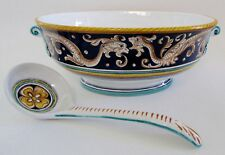 Grazia Deruta Italy Large Serpent Serving Bowl with Ladle