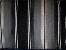 New Black Grey Genuine Mexican Sarape Hot Rod Blanket Rug Picnic Regular Size