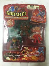 Gormiti 1st Series 4-figure Blister Set Featuring Tasarau , Forest Tribe
